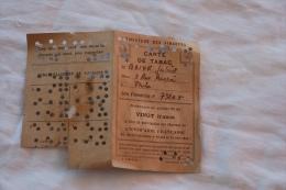 CARTE DE TABAC DE 1946 - Documents