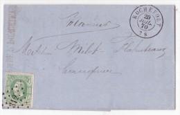 L. Affr. N°30 Lpts 312 ROCHEFORT/1870 Pour Namur - 1869-1883 Leopold II.