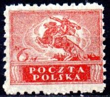 POLAND 1919 Polish Uhlan - 6m. - Red  MH - Ongebruikt
