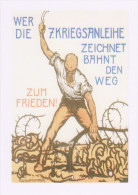 Postcard German WW1 Poster Who Draws The War Loan Paves The Way To Peace - Patriotic