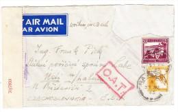 O.A.T. Zensur Luftpostbrief 27.08.45 Tel Aviv Palestina Nach Tschechoslovakei - Brief Mit Mängel - Palestine