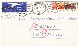 O.A.T. Luftpostbrief 2.10.45 Johannesburg Brief Nach Genf Rotkreuz - Südafrika (...-1961)