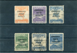 """1923-Greece- """"EPANASTASIS 1922"""" Overprint Issue -on 1912 Campaign Stamps- Partial Set MH (except 10/25l. + 10/40l. Used) - Used Stamps"""