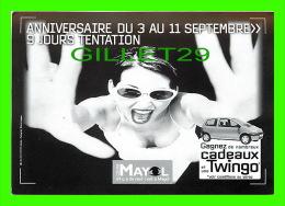 ADVERTISING - PUBLICITÉ - CENTRE MAYOL - GRAND JEU ANNIVERSAIRE,1999 - UNE RENAULT TWINGO À GAGNER - - Publicité