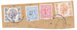 1975 RELAIS Fragment Met PZ 1649+1744+854+859 Afgestempeld Zonhoven Zie Scan(s) - 1970-1980 Elström