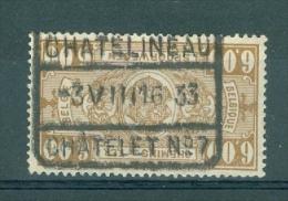 """BELGIE - OBP Nr TR 158 - Cachet  """"CHATELINEAU-CHATELET Nr 7""""  - (ref. 3561) - Bahnwesen"""