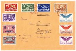 Luftpostbrief  31.3.28 St Blaise Nach Hamburg - Poste Aérienne