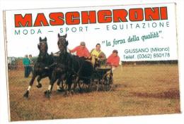 ADESIVO-MILANO-GIUSSANO-M ODA-SPORT-EQUITAZIONE-MAS CHERONI - Autocollants