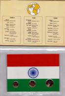 INDIEN, 10 + 25 + 50 PAISE Vergoldet; Diese Münzen Sind Garantiert Echt Und Zusätzlich Vergoldet, Hochglanz (PP) >>> - Indien