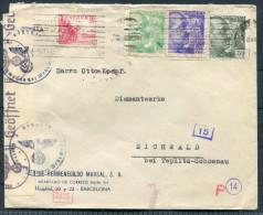 Spain Barcelona Hermengildo Marsal Censura Militaire Censor Zensur Brief - Eichwald Germany - 1931-Today: 2nd Rep - ... Juan Carlos I