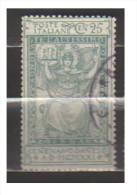4526-Italia Regno C.25 Sassone 117 Usato - Gebraucht