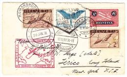 Flugbrief 8.11.30 Romanshorn Nach Jerico USA - DO-X 1. Überseeflug Europa Amerika - Autres Documents