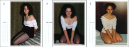 AK 3 Photopostcards Fotokarten ELKIE Mädchen Girl In White Shirt And Black Miniskirt And Gymnasticdress - Sonstige