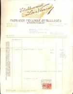 Facture - Faktuur - Ets. Léon Viaene - Emballages - Papier & Carton - Brugge 1936 - Printing & Stationeries