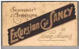 SOUVENIR D'AUVERGNE- EXCURSION AU SANCY -CARNET DE 20 VUES - ETAT TTB- - Gruss Aus.../ Grüsse Aus...