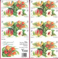 USA POSTZELBOEKJE 1999 BLOEMEN ZELFKLEVEND BOOKLET SELF-ADHESIVE FLOWERS MINT - Neufs