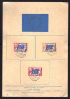 Feuillet Gaufré / CONSEIL DE L´EUROPE / Service N° 17 - 18 - 20 Oblitérés STRASBOURG 13.10.1958 - Lettres & Documents