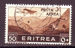 ERITREA  POSTA AEREA  1936  N. 18  USATO 1 VALORE - Erythrée