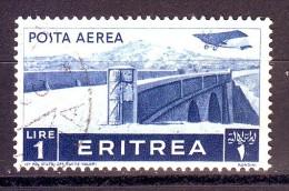ERITREA  POSTA AEREA  1936  N. 21  USATO 1 VALORE - Erythrée