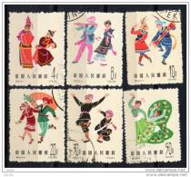 China  Chine : (7015) S55(o) Danses Folkloriques Chinoises (3èmes Séries) SG2110/5 - 1949 - ... République Populaire