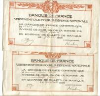 Depot Or Banque De France 1915 - Banque & Assurance