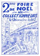 CPM SALON DE COLLECTIONS FOIRE DE NOEL MARSEILLAN 2003 HALLE EGLISE  DESSIN SABATER N°223 - Borse E Saloni Del Collezionismo