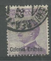 Erythrée Oblitérér  COLONNIA ERITREA - Erythrée