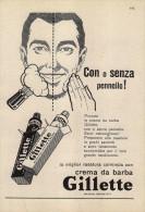 # GILLETTE BLADES 1950s Advert Pubblicità Publicitè Reklame Lamette Rasoio Lames Rasoir Cuchillas Klingen - Razor Blades