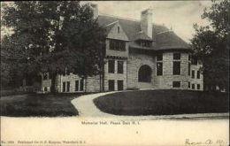 Peace Dale RI Memorial Hall No 1034 c1900 Old Postcard