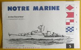 "Buvard ""Notre Marine"" :  Aviso Escorteur ""Commandant RIVIERE"" - Buvards, Protège-cahiers Illustrés"