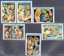 COMORES - 1975 - N°248/253  ** NON DENTELE - ESPACE - Isole Comore (1975-...)