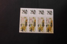 Poland 1650 National Park And Pine Cone Strip Of 4 Cancelled 1968 A04s - Blocks & Sheetlets & Panes