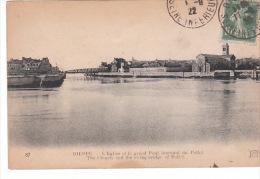 CPA DIEPPE (76) L'EGLISE Et LE GRAND PONT TOURNANT DU POLLET - Dieppe