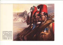 1a Adunata Roma Truppe Coloniali Fondazione Impero 9  Maggio 1937 XV Tafuri COMMEMORATIVA - Patriottiche