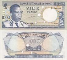 Congo Rep - 1000 Francs 1964 AUNC Cancelled Yellowing Lemberg-Zp - Repubblica Democratica Del Congo & Zaire