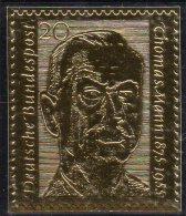 Edition Raritäten In Gold Deutschland BRD #237 ** 50€ Mit 23 Karat Schriftsteller T.Mann Porträt Writer Stamp Of Germany - BRD