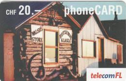 """LIECHTENSTEIN - Walsh""""s Store/Kotzebue-Alaska, Telecom FL Prepaid Card CHF 20, Exp.date 12/04, Used - Liechtenstein"""