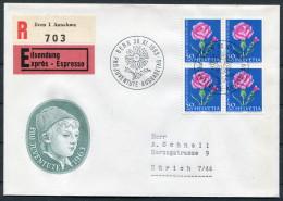 1963 Switzerland Bern Registered Express Pro Juventute Flower Cover - Pro Juventute