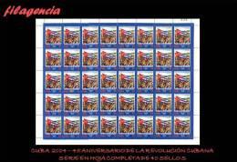 CUBA. PLIEGOS. 2004-01 45 ANIVERSARIO DEL TRIUNFO DE LA REVOLUCIÓN CUBANA - Blocchi & Foglietti
