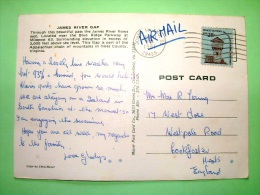 "USA 1981 Postcard ""James River Gap - Forest"" To England - Tower - Etats-Unis"