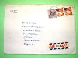 USA 1989 Cover To England - Flags - Redress - Grain Harvest - Lettres & Documents