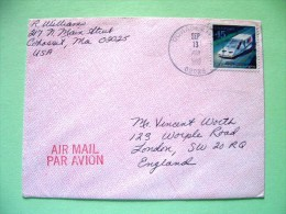 USA 1990 Cover To England - Solar Postal Car - UPU - United States