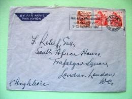 Switzerland 1947 Cover Sent To England / Chillon Castle / Lake Lugano - Suisse