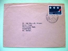 Switzerland 1968 Cover Sent To England - Geneve Airport - Suisse