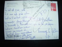 CP TP MARIANNE DE LUQUET TVP ROUGE OBL.MEC.31-12-1997 PARIS 7 ECOLE MILITAIRE(75)+ GRIFFE INCONNU A L'APPEL DES PREPOSES - 1997-04 Marianne Du 14 Juillet