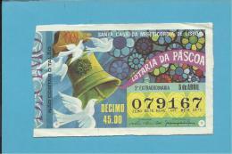 LOTARIA NACIONAL - 2.ª EXT. - 05.04.1969 - PÁSCOA - Portugal - 2 Scans E Description - Lottery Tickets