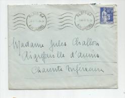 Lettre , 1939 , PARIS 64 , R. De LOURMEL , 3scans , Verso : AIGREFEUILLE , Charente Inférieure - Marcofilie (Brieven)