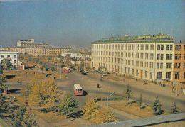 360- ULAN BATOR- THE PEACE AVENUE, BUSS, CAR, CPA - Mongolie