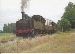 CF 285  Train Locomotive Gare :  Machine 030 T5 Fives Lille De 1910 Dans La Campagne De Champigny/veude - Champigny-sur-Veude