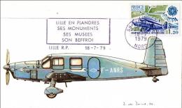 Lille Nord Avion Caudron Simoun Aviation Postale Cp Maximum 1979 état Superbe - 1970-79